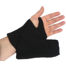 Fingerless Mittens - Black